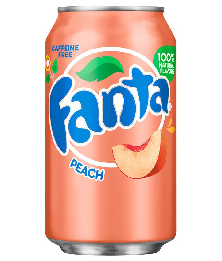 FANTA PEACH IMPORT USA CANS 355ML X 12