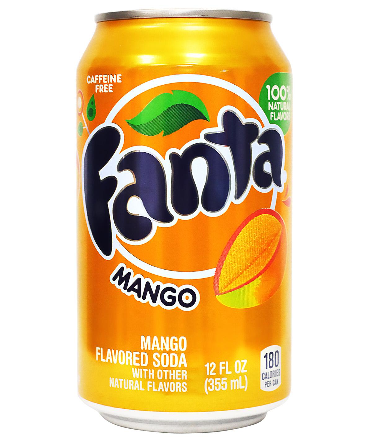FANTA MANGO IMPORT USA CANS 355ML X12