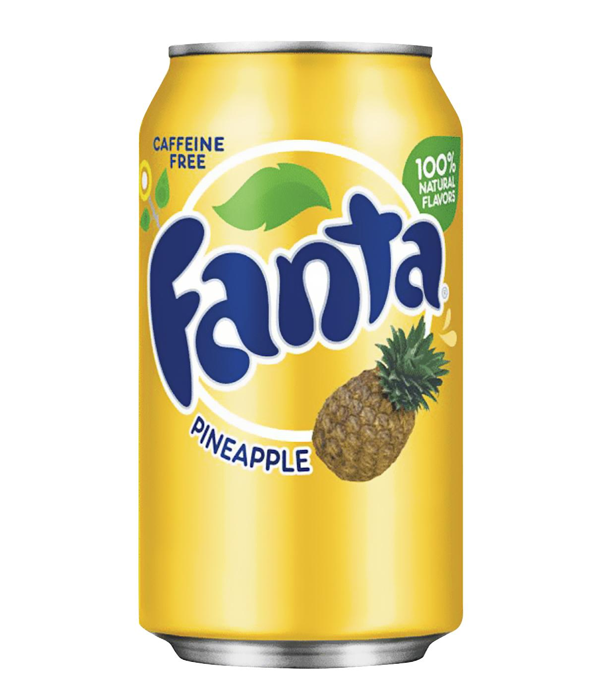 FANTA PINEAPPLE IMPORT USA CANS 355ML X 12